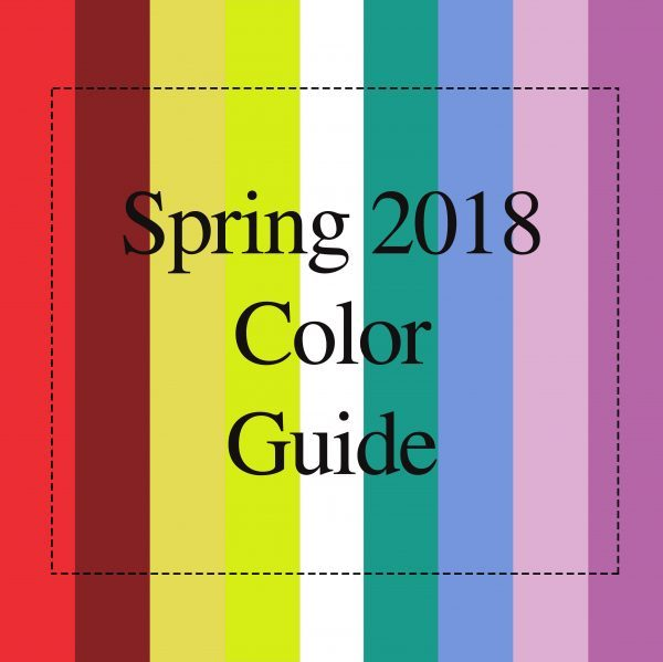 Spring 2018 Color Guide